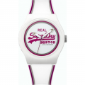 SUPERDRY Urban White Rubber Strap SYG198WR