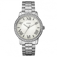 GUESS Ladies Crystal Stainless Steel Bracelet, W0329L1