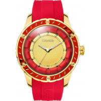 BREEZE Spiral Galaxy Gold Red Rubber Strap 110301.7