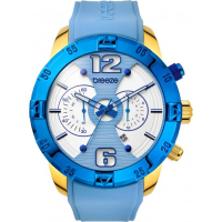 BREEZE Pop Sugar Gold Light BLue Rubber Chronograph 110321.5