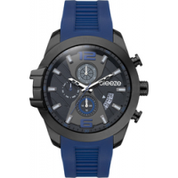 BREEZE Cruzer Dual Time Blue Silicone Strap, 110712.3
