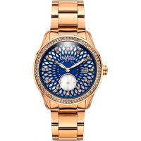 BREEZE Camellia Crystals Rose Gold Stainless Steel Bracelet 210831.7
