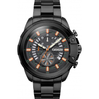 BREEZE Artisan Chronograph Black Stainless Steel Bracelet 810742.2