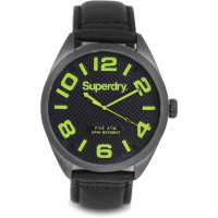 Superdry SYG192BYA Military Black Leather Strap