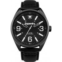 SUPERDRY Military Black Leather Strap SYG199BB