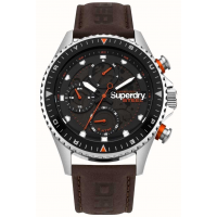 SUPERDRY SYG220BR Mens Steel Officer