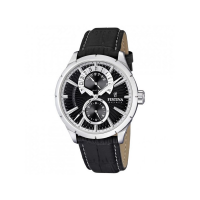 FESTINA F16573/3, multifunction Black Leather
