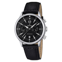 FESTINA F16870/4, Black Leather Chronograph
