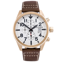 CITIZEN AN3623-02A Quartz Brown Leather Strap
