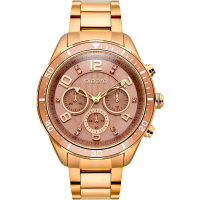 BREEZE 210951.4 Serenia Crystals Chronograph Rose Gold