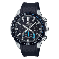 CASIO Edifice Solar Black Rubber Chronograph EFS-S550PB-1AVUEF