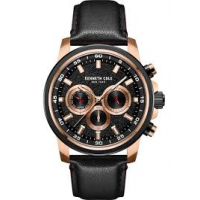 KENNETH COLE Black Leather Chronograph KC51014003