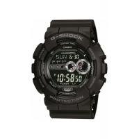 CASIO G-SHOCK BLACK RUBBER STRAP GD-100-1BER