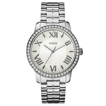 GUESS Ladies Crystal Stainless Steel Bracelet, W0329L1
