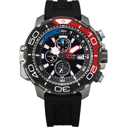 Citizen BJ2167-03E Ρολόι Promaster Marine Diver Χρονογράφος με Μαύρο Καουτσούκ